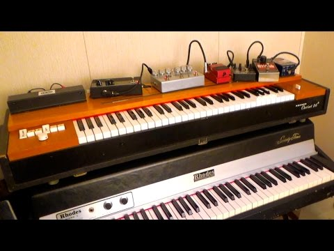 Clavinet D6 with effects pedals